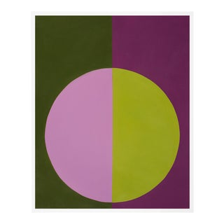 """Violet & Green Forever"" Small White Framed Print by Stephanie Henderson For Sale"