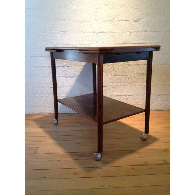 1960s Rosewood Bar Cart by Drylund For Sale - Image 5 of 7