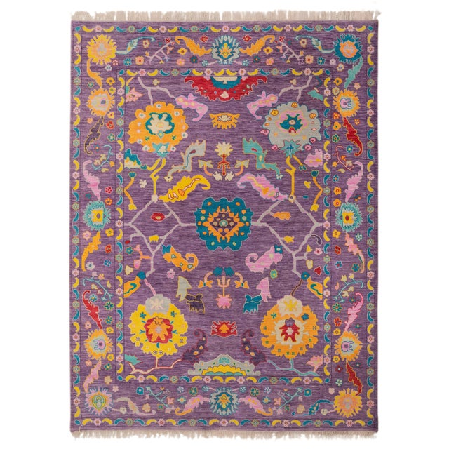 Contemporary Turkish Oushak Rug - 10′4″ × 13′4″ For Sale