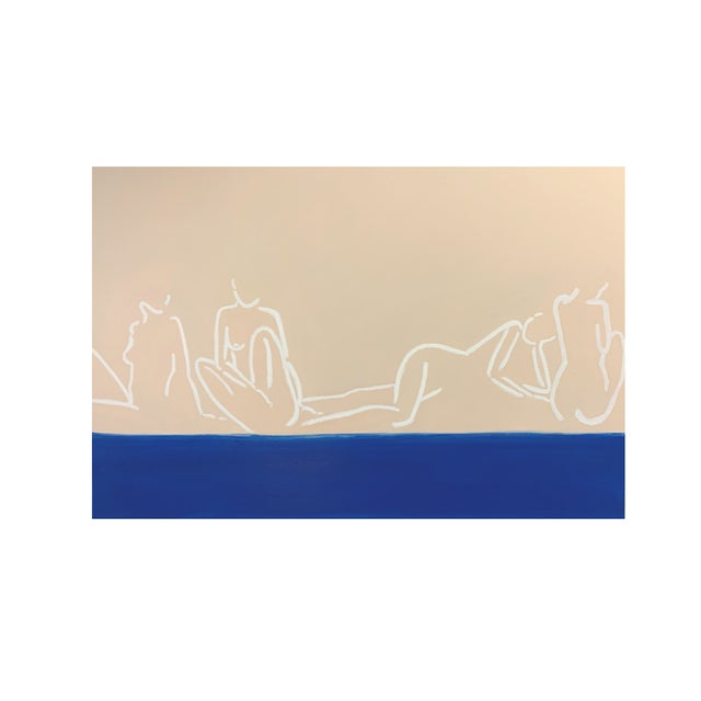 """Abstract """"La Mer""""Contemporary Painting by Lindsey Weicht For Sale - Image 3 of 8"""