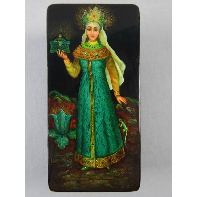 Russian Hand Painted Lacquer Box - Image 2 of 7