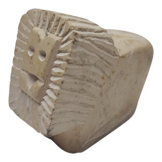 Stone Carved Lion Figurine