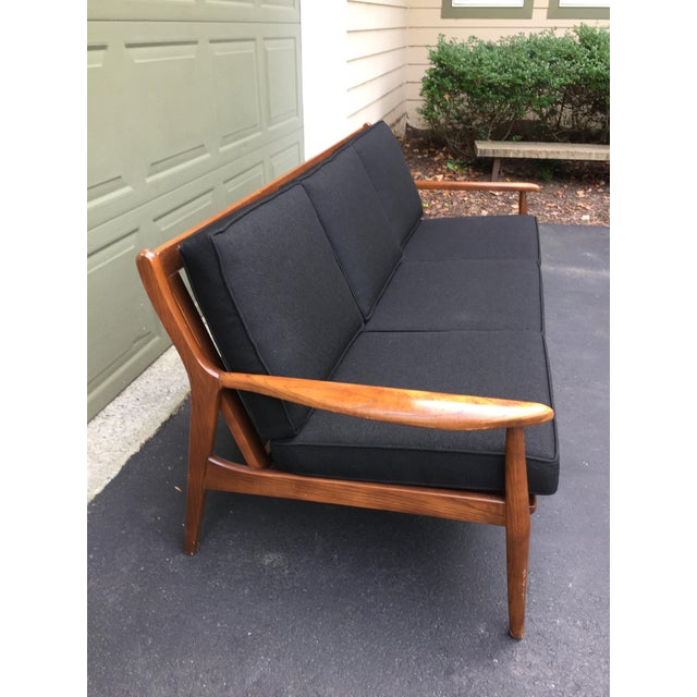 Danish Modern Style Open Arm Sofa For Sale - Image 5 of 11