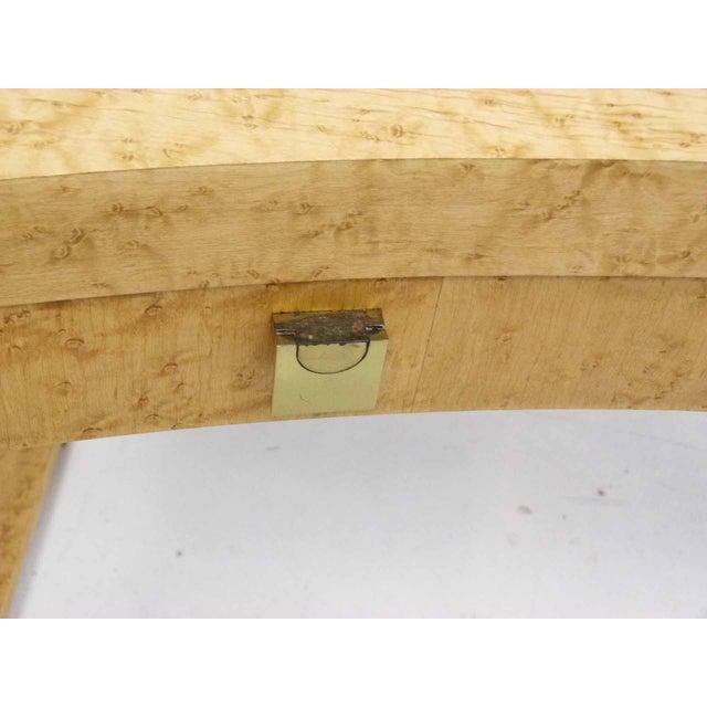 Birds Eye Maple Burl Wood Desk & Bench - Image 11 of 11