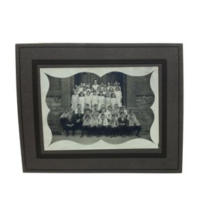 "Vintage ""School Children"" Mounted Black & White Photograph For Sale"