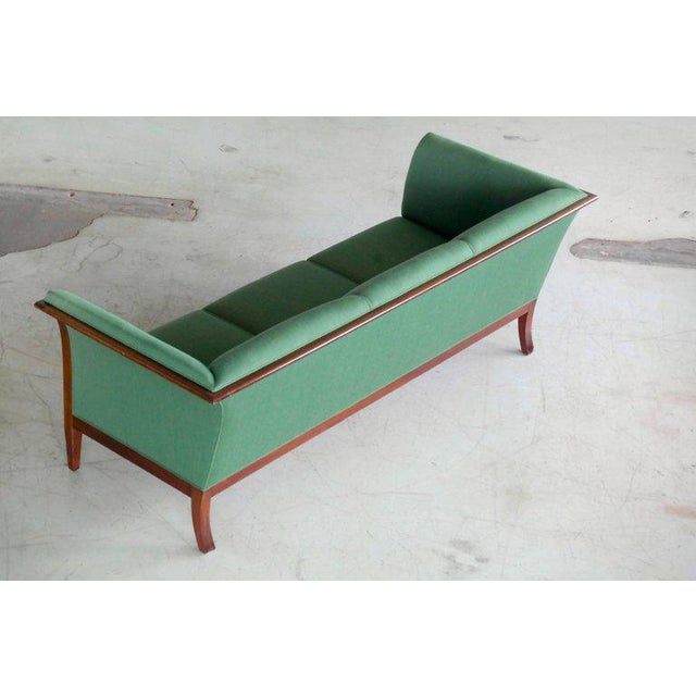 1940s Frits Henningsen Danish Mid-Century Modern Sofa in Cuban Mahogany For Sale - Image 5 of 8