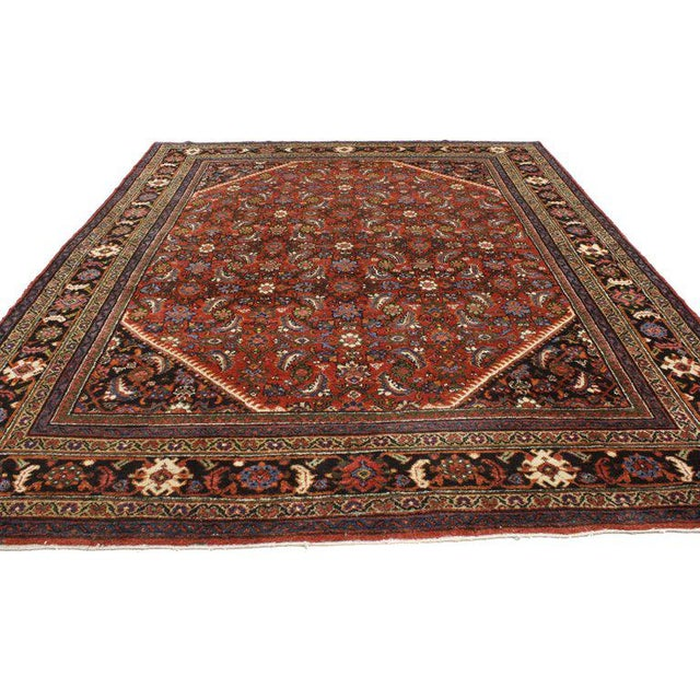 Antique Persian Mahal Rug with Traditional Style For Sale - Image 5 of 6