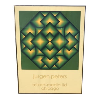 1970s Vintage Jurgen Peters Mixed Media Poster For Sale