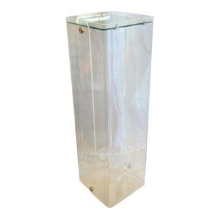 Modern Lucite/Plastic Pedestal For Sale