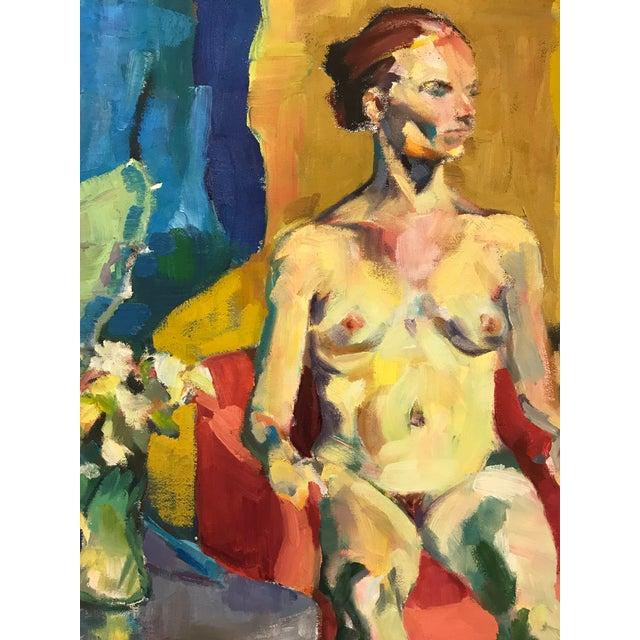 Expressionism Vintage Nude Oil Portrait For Sale - Image 3 of 10
