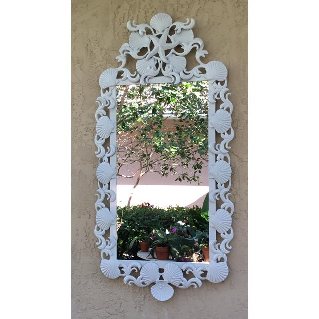 2010s Seashell Iron Mirrors - a Pair For Sale - Image 5 of 13