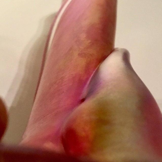 Glass Zellique Studios Art Glass Pink Cranberry Vase For Sale - Image 7 of 8