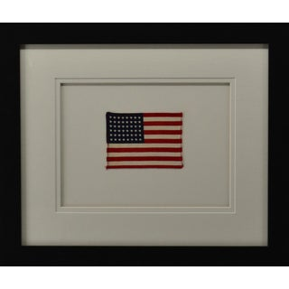 Vintage Ww II Cotton 48 Star American Flag For Sale