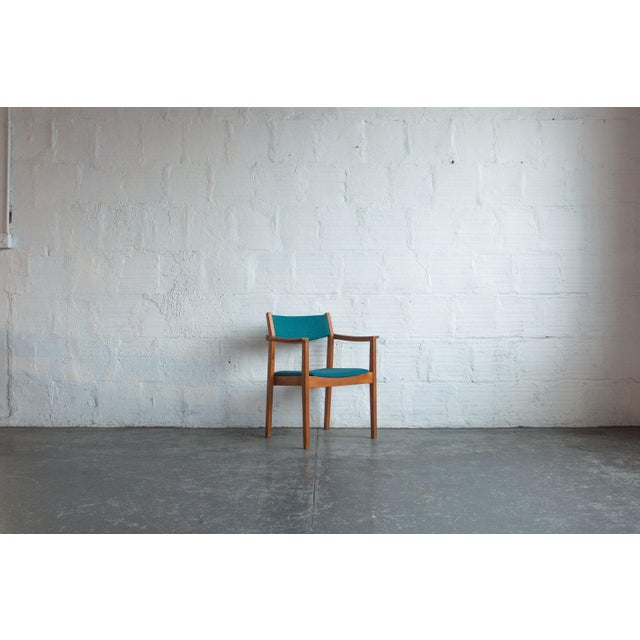 1960s 1960s Mid-Century Modern Teal Armchairs - Set of 6 For Sale - Image 5 of 8
