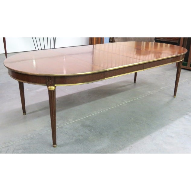 Louis XVI Style Bronze Mounted Dining Table - Image 2 of 8