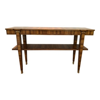Art Deco Lucien Rollin / William Switzer Zebrawood Console Serving Table For Sale