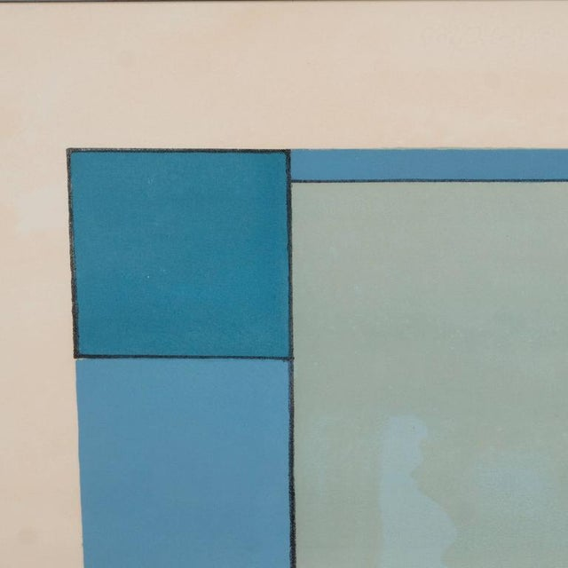 Lithograph American Ludwig Sander Geometric Color Field Lithograph For Sale - Image 7 of 10