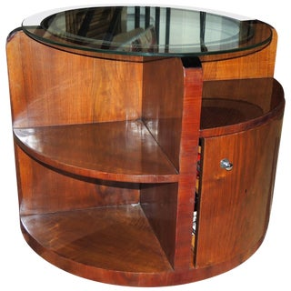 "Art Deco ""Secret"" Bar With Mirror Topped Table For Sale"