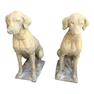 Hunting Dog Statues- A Pair For Sale