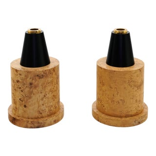 Ettore Sottsass Floor Vases From 27 Woods for a Chinese Artificial Flower - a Pair For Sale