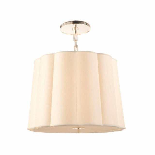 Two Barbara Barry Simple Scallop Pendant Fixtures For Sale - Image 5 of 5
