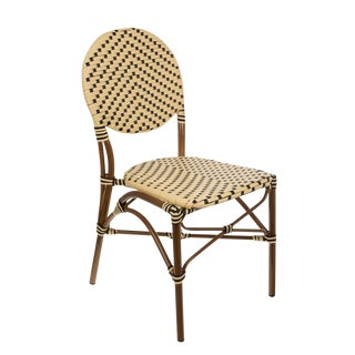 Cream & Black Color Café Bistro Chair