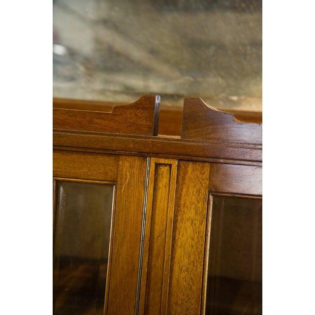 Vintage French Oak Breakfront Display Cabinet For Sale In Atlanta - Image 6 of 10