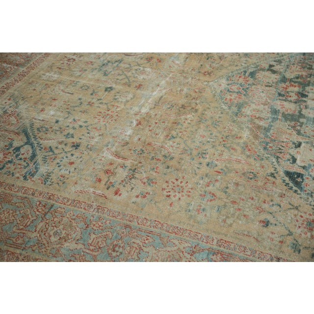 """Distressed Antique Sultanabad Carpet - 9' X 12'5"""" For Sale - Image 10 of 10"""