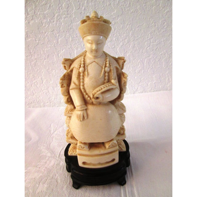 Chinese Mid Century Seated Empress Sculpture - Image 2 of 8