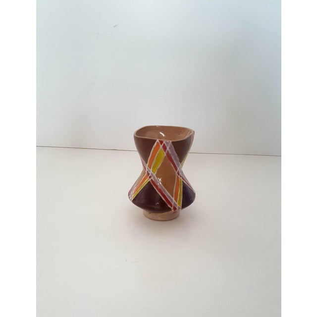Vintage Studio Pottery Small Sculptural Vase Vessel For Sale - Image 9 of 10