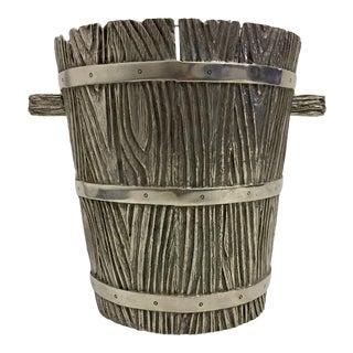 Vintage Ralph Lauren Pewter Bark Ice Bucket For Sale