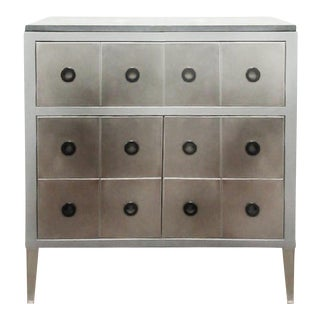 Italian Modern Giulio Lazzotti for Mageia of Italy Postmodern Slate & Steel Chest of Drawers