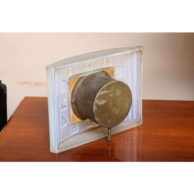 Léon Hatot 'ATO' Opalescent Glass Mantle Clock For Sale In New York - Image 6 of 7
