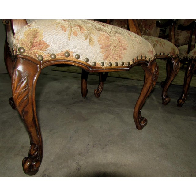 2000 - 2009 French Country Hooker Furniture Gerard Arm Chairs - Set of 4 For Sale - Image 5 of 8