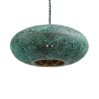 Verdigris Copper Ufo Lantern Small For Sale