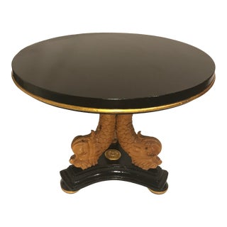 Vintage Art Deco Style Round Center Table For Sale
