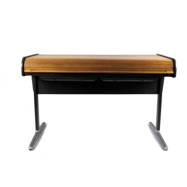 George Nelson 1960s Mid-Century Modern George Nelson Roll Top Desk For Sale - Image 4 of 5
