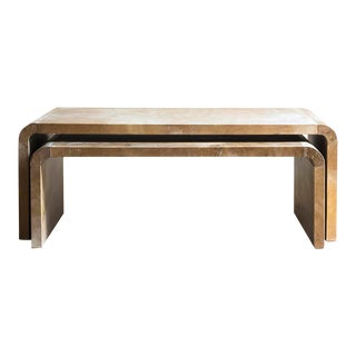 "Nesting ""Ficus"" Coffee Table - Pair For Sale"