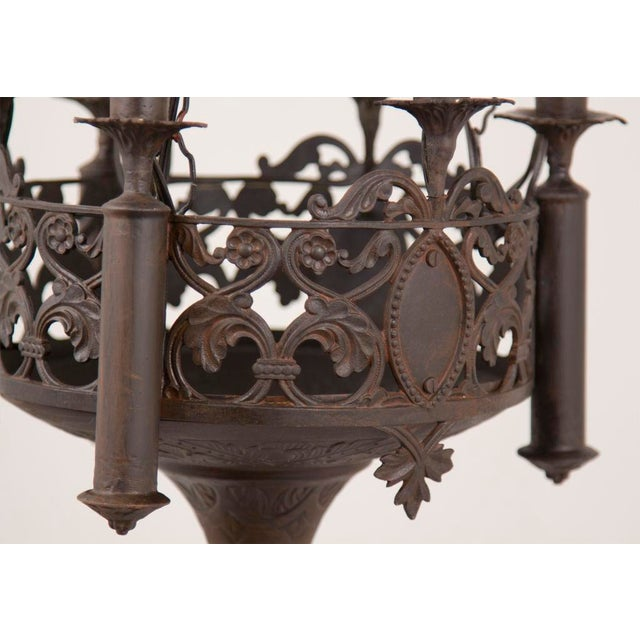 Mid 19th Century Mid 19th Century Gothic Revival Chandelier For Sale - Image 5 of 5