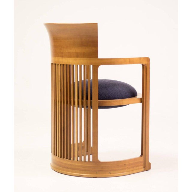 Cassina Taliesin Dining Table and Barrel Chairs Designed by Frank Lloyd Wright For Sale - Image 6 of 10