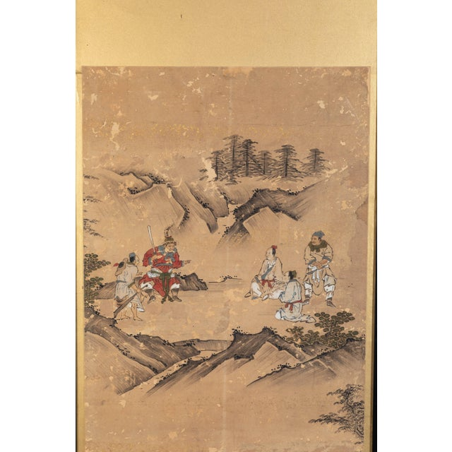 Brown Antique Japanese Screen Panels For Sale - Image 8 of 12