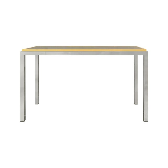 Brass and chrome console by Romeo Rega, Italy, 1970s.