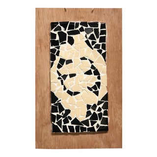Vintage Modern Mosaic Artwork on Wood For Sale