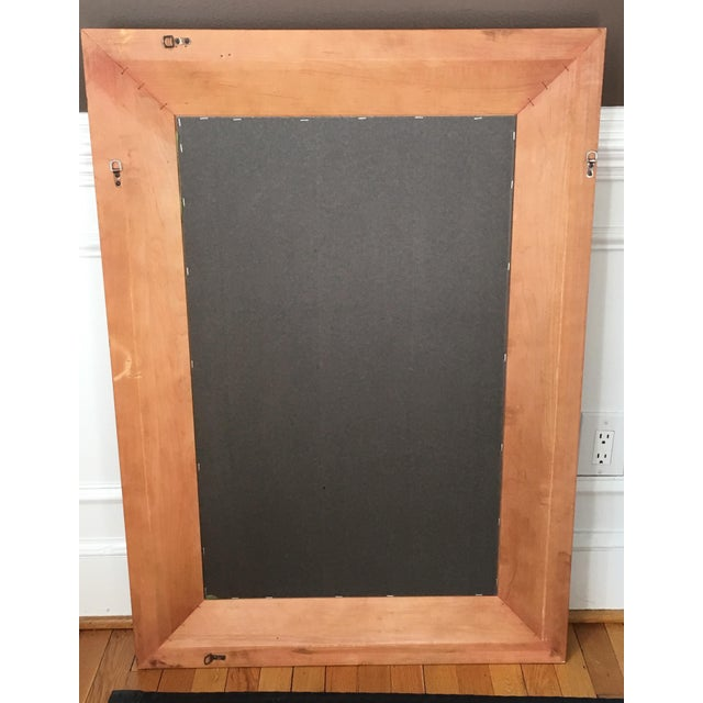 Pottery Barn Cherrywood Beveled Wall Mirror - Image 5 of 6