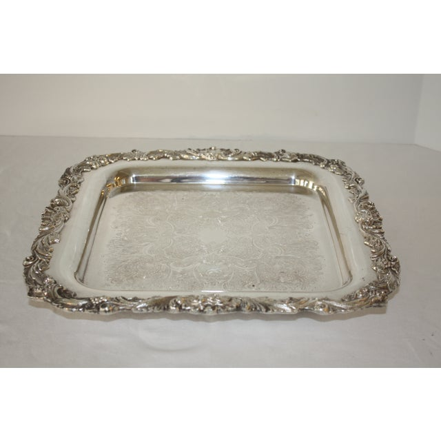 Footed Square Silver Tray - Image 4 of 5