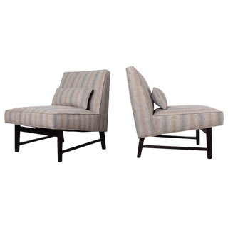 Pair of Slipper Chairs by Edward Wormley for Dunbar For Sale