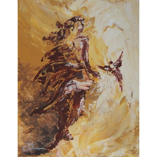 Abstract Figure Angel Nude Acrylic Canvas Painting
