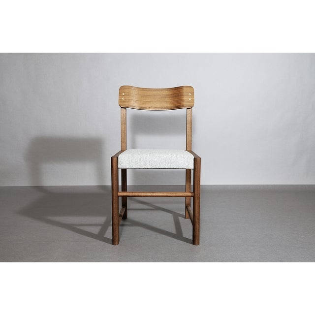 Contemporary Volk Sebastian Chair Walnut For Sale - Image 3 of 3