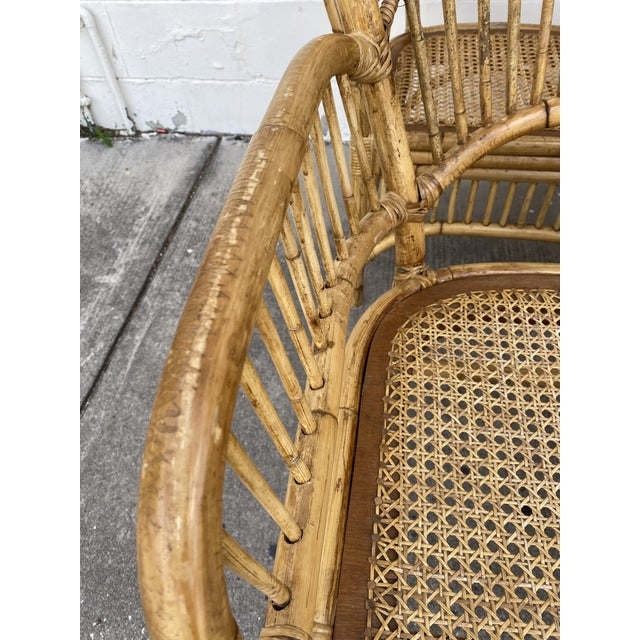 Vintage Rattan Fan Back Chairs- Set of 8 For Sale - Image 11 of 13