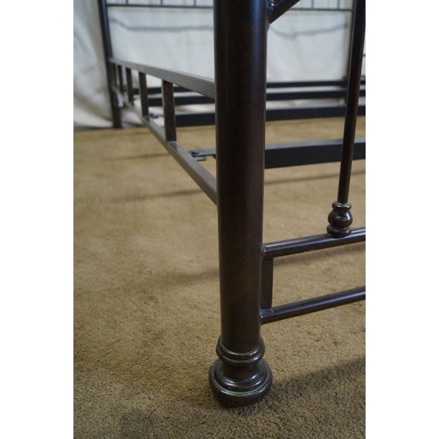 Victorian Style Iron Queen Size Bed - Image 10 of 10